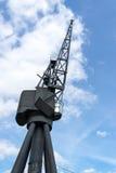 Old crane in London Stock Photo