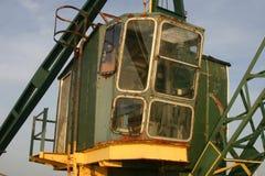Old green crane Royalty Free Stock Photos