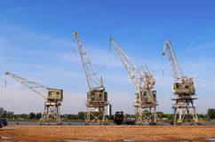 Old cranes Stock Images