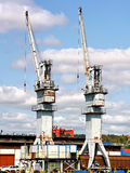 Old cranes Royalty Free Stock Photos