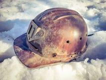 Old crash helmet Stock Photography