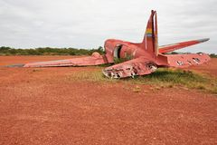Old crashed plane Stock Photo