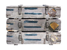 Old crates for weapons Stock Photography