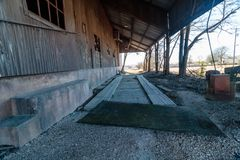 Old Crawford Mill in Walburg Texas, Movie Set Stock Photography