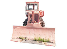 Old crawler tractor Stock Images