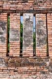 Old cray brick wall. Closeup detail Stock Photo