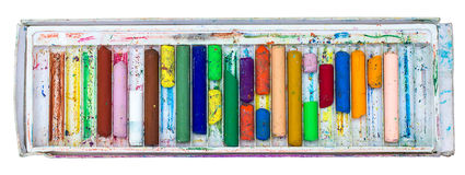 Old crayons Stock Images