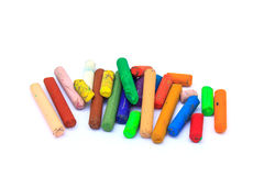 Old crayons Royalty Free Stock Images