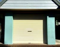A old cream garage door royalty free stock photos