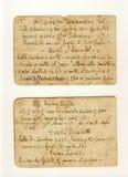 Old cream receipts stock photos