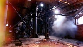 Old creepy, dark, decaying, destructive, dirty factory. Old creepy dark decaying destructive, dirty factory Stock Photo