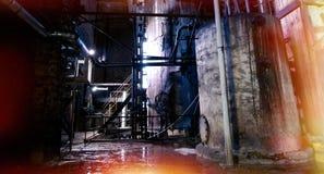 Old creepy, dark, decaying, destructive, dirty factory. Old creepy dark decaying destructive, dirty factory Stock Photography