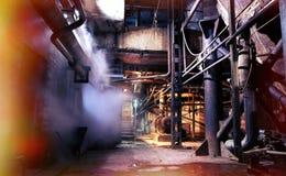 Old creepy, dark, decaying, destructive, dirty factory. Old creepy dark decaying destructive dirty factory Stock Image
