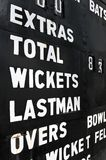 Old cricket scoreboard Royalty Free Stock Image