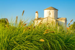 Old croatian church of Holy Cross in Nin, Zadar Royalty Free Stock Photo