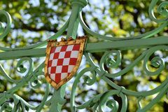 Old Croatian coat of arms Stock Image