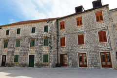 Old croatian houses in Stari Grad Royalty Free Stock Photos