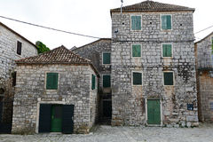 Old croatian houses in Stari Grad Stock Photos