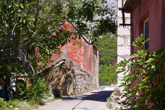 Old croatian village Stock Image
