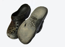 Old Croc Shoes Stock Image