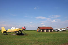 Old crop duster airplanes Royalty Free Stock Photography
