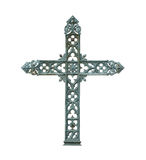 Old cross. Of iron on white Stock Photography
