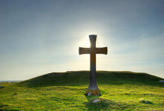 Old cross. An old cross at sunset Royalty Free Stock Photos
