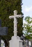 Old cross in a cemetery Stock Photography