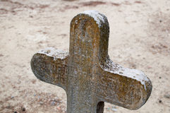 Old cross in a cemetery Royalty Free Stock Images