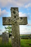 The old cross in Cornwall Royalty Free Stock Photo