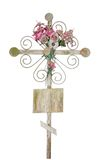 Old cross with flowers Stock Photography