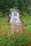 Old cross, Glendalough cemetery, Ireland Stock Photo