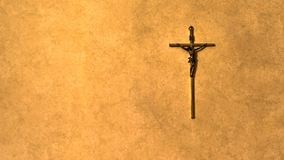The old cross at the old paper royalty free stock photos