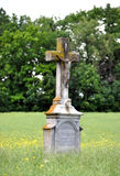 Old cross in the landscape. Old Christian cross in the landscape Royalty Free Stock Image