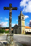 Old cross and  chapel. Stock Image