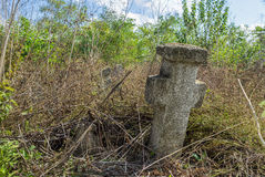 Old cross tombstone Stock Image