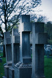 Old Cross Tombstones. Stand beside each other in an old cemetery Royalty Free Stock Images