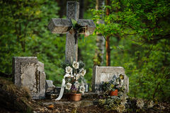 Old Cross. In the woods Royalty Free Stock Image