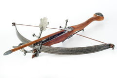 Old crossbow. On white background Royalty Free Stock Photos