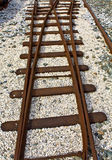 Old crossection of rails Royalty Free Stock Photo