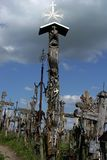 Old crosses. Hill of the crosses Royalty Free Stock Photography