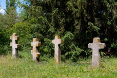 Old crosses on cemetery Royalty Free Stock Photography