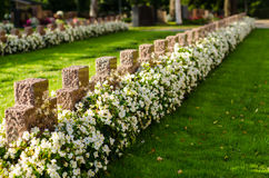 Old crosses in Sastamala graveyard Royalty Free Stock Photos
