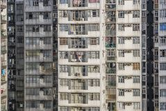 Old And Crowded Apartment Buildings stock photos
