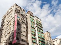 Old Crowded Apartments in Hong Kong Royalty Free Stock Image