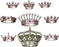Old crown set Royalty Free Stock Photo
