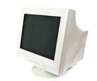 Old CRT monitor. On white background Stock Photography