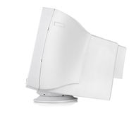 Old CRT monitor. CRT monitor isolated on a white background. Clipping path Royalty Free Stock Image