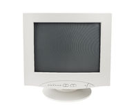 Old Crt Monitor Display isolated white background Stock Photography
