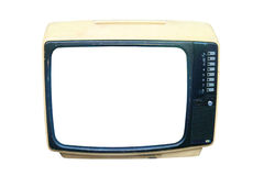 Old CRT television Stock Photos